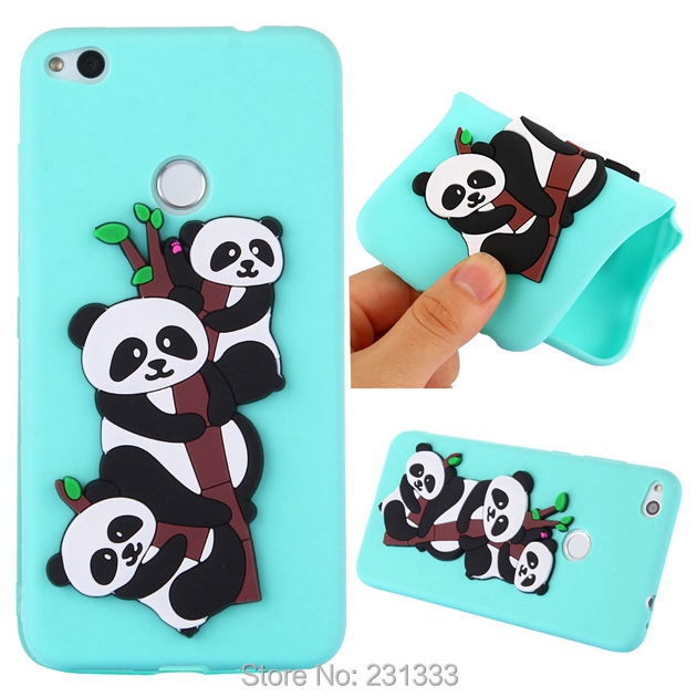 C-ku Cat Panda 3D Cartoon Soft Silicone Case For Huawei MATE 10 PRO P8 LITE 2017 P10 Y5 2017 Honor 7X 6A Cute Skin Luxury 100pcs