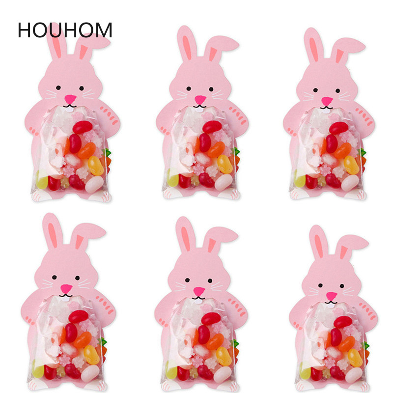 Home & Garden 10pcs/lot Cute Animal Bear Rabbit Dragee Candy Bags Cookie Bags Gift Bags Greeting Cards Baby Shower Birthday Party Candy Box