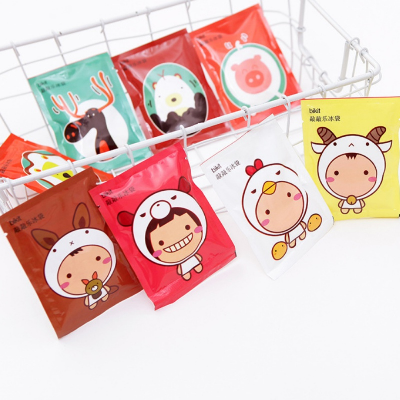 Summer Travel Portable Ice Pack Cartoon Reusable Instant Cold Ice Bag Cooling Bag For Toothache Heatstroke Random Color