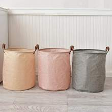 Folding Laundry Basket Cartoon Storage Barrel Standing Toys Clothing Bucket For Home Kitchen Organization