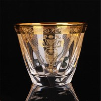 Romantic crystal glass whisky cup wine cup local tyrant gold water cup tea cup fruit juice and beer glass B
