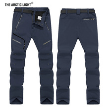 THE ARCTIC LIGHT 6XL Men Winter Inner Fleece Soft shell Hiking Pants Trekking Outdoor Sports Thermal Ski Male Trousers цена