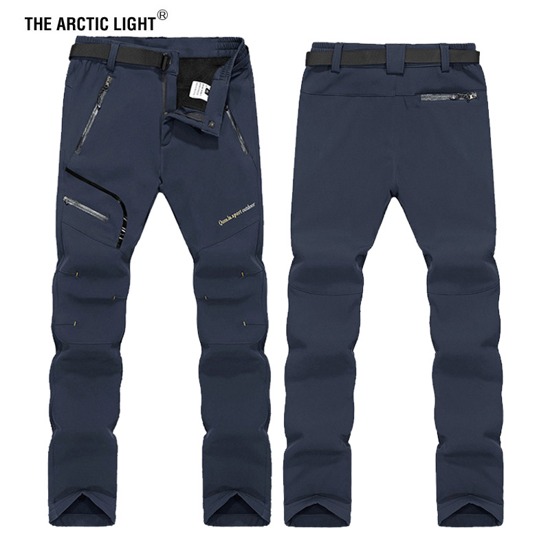 THE ARCTIC LIGHT <font><b>6XL</b></font> <font><b>Men</b></font> Winter Inner Fleece Soft shell Hiking Pants Trekking Outdoor Sports Thermal Ski Male Trousers image