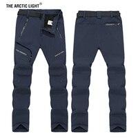 THE ARCTIC LIGHT 6XL Men Winter Inner Fleece Soft shell Hiking Pants Trekking Outdoor Sports Thermal Ski Male Trousers