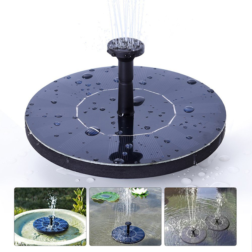 Outdoor Solar Powered Bird Bath Water Fountain Pump For Pool Garden Aquarium