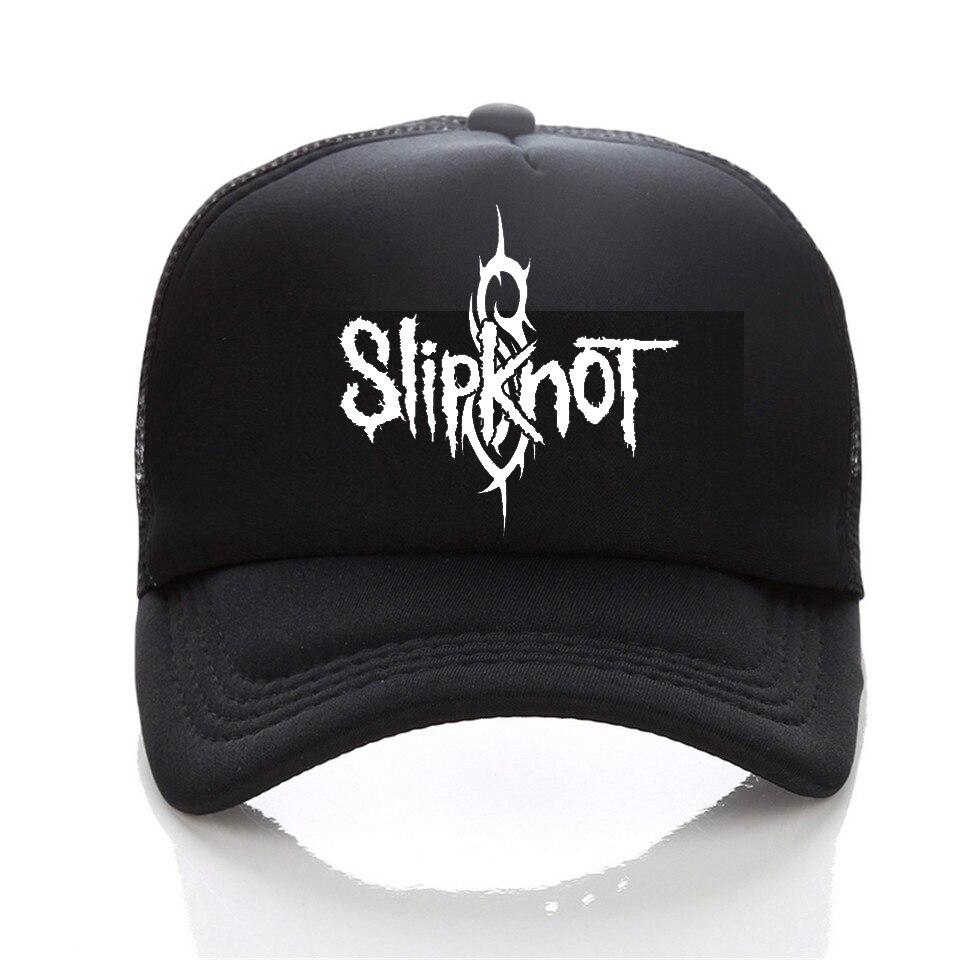 Prix pour Summer Style Mode Hommes cap Noir Snapback cap Hommes de chapeau Coton Rock Band Slipknot Casquette de baseball