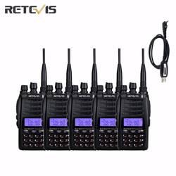 5 шт. Retevis RT23 Walkie Talkie кросс-группа ретранслятор УКВ + УКВ 136-174/400-480 мГц двойной PTT/Receive 128Ch 1750 Гц DTMF радио A9122A