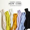 2015 Venda Quente de Inverno Blusas de Gola Alta Para As Mulheres 100% Pura Caxemira Camisola De Malha Feminino Alta Camisola Elástico Moda pano