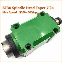 Wrzeciono frezarskie głowy BT30 Taper 7:24 1.5KW 2HP głowica zasilająca jednostka 5000 ~ 6000 obr/min maksymalna prędkość frezowanie cnc maszyna w Wrzeciono obrabiarki od Narzędzia na