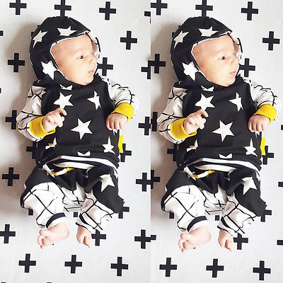Cute-Baby-Kids-Boy-Girl-Tops-Star-Hooded-SweatshirtsPants-2pcs-Outfits-Set-Clothes-6M-3Y-4