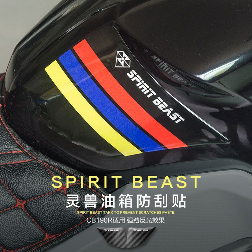 SPIRIT BEAST Motorcycle Tank <font><b>Stickers</b></font> Waterproof Protection for <font><b>Yamaha</b></font> <font><b>Nmax</b></font> Tmax 530 Xmax Piaggio Honda Cb650f CBF190 Vespa Gts image