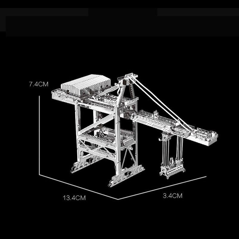 Nanyuan 3D Metal Puzzle Dock kranbyggnad Modell DIY Laser Cut - Spel och pussel - Foto 2