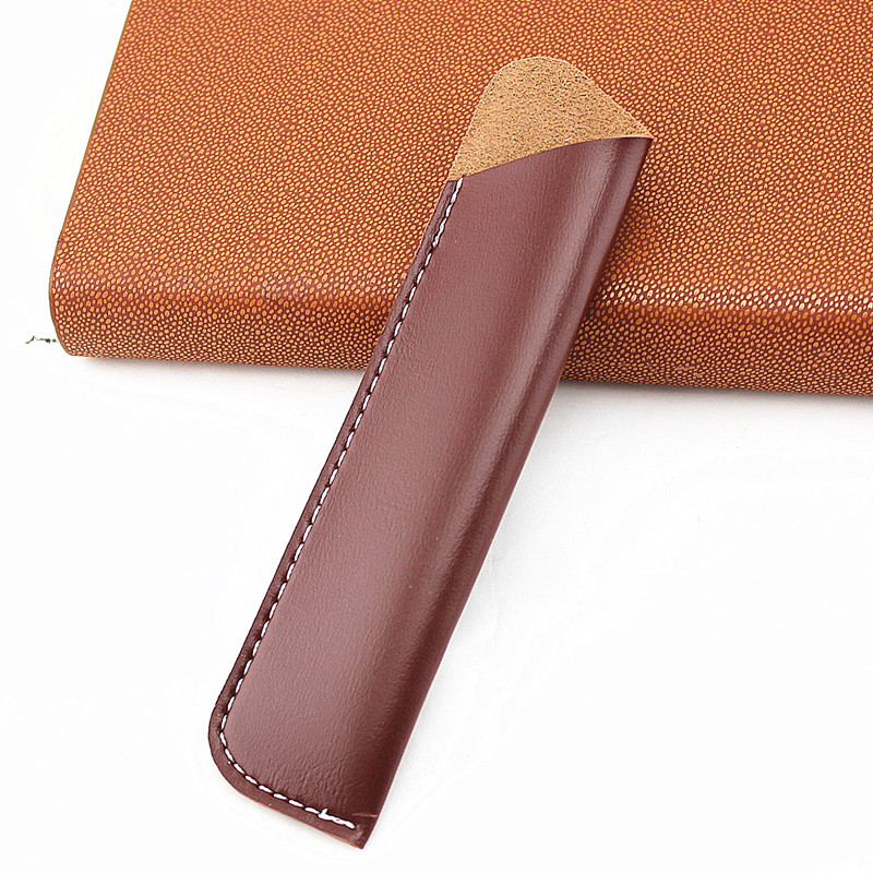 High Quality Leather Pen Pouch Holder Single Pencil Bag Pen Case Sleeve For Fountain/Ballpoint Pen, Travel Diary Pen Cover