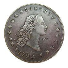 Дата 1794 1795 1796 1797 1798 США распущенные волосы Draped Бюст доллар монеты КОПИЯ
