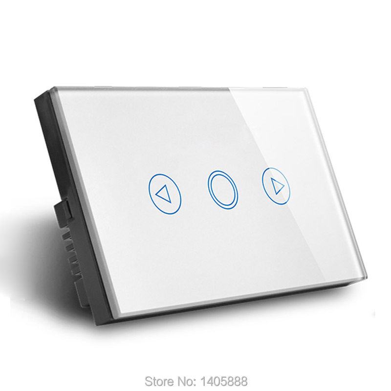US Standard Crystal LED Dimmer wall light Switch,Tempered glass panel touch sensor dimmer switch not support broadlink backlight us au standard touch wall switch 1 gang with crystal tempered glass panel and blue led backlight