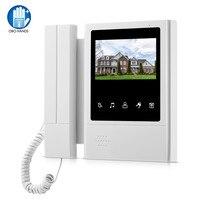 OBO 4.3 inch Color Screen Video Door Phone Intercom System Video Door bell Doorphone Monitor for Home/ Apartments Max 100 Meter