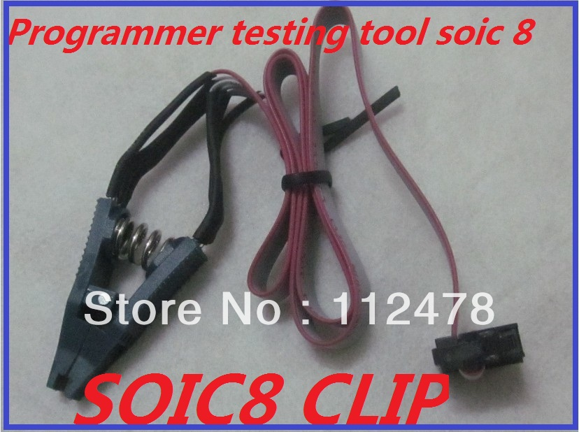 US $40 5 10% OFF 10PCS/LOT Programmer Testing EEprom Clip SOIC8 SOP8 Pomona  SOIC SOP 8 pin Clamp with Cable for Tacho Universal DASH Programmer-in