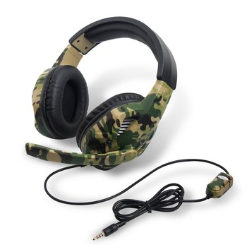 Game Headset Camouflage PC Computer Gamer Headset with Microphone for Laptop Cellphone GDeals