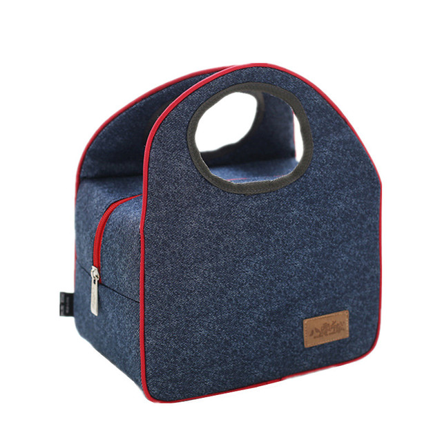 Denim Leisure Lunch Bags Women S Men Kid School Picnichandbag Insulated Pack Drink Food Thermal Box Accessories