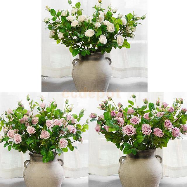 Bridal Bouquet Artificial Faux Flowers Wedding Decorations Flower ...