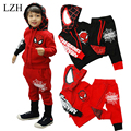 LZH Spiderman Children Boys Clothing set  Boy Spider man Sports Suits 2-6 Years Kids 2pcs Sets Spring Autumn Clothes Tracksuits
