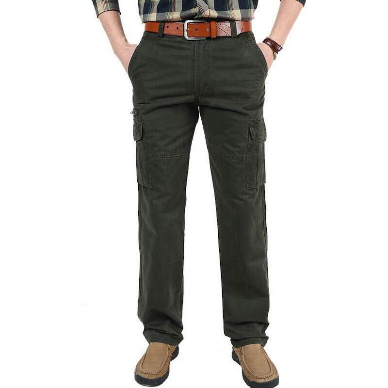 Brand Cargo Pants Men 100% Cotton Trousers Mens Pants Military Straight Pants Men Pantalon Homme Plus Asian Size 30-44