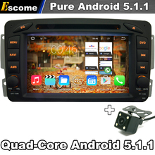 Pure Android 5.1 Car DVD Player For Mercedes Benz W163 W203 W210 W463 With WIFI Radio Capacitive GPS Navigation Rear View Camera