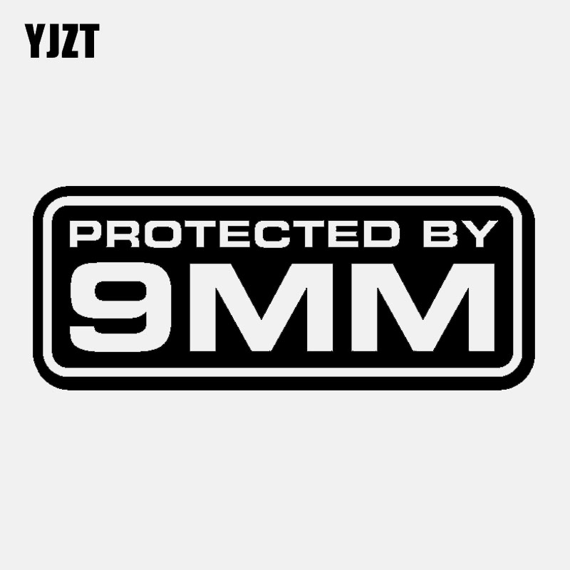 YJZT 12.5CM*5CM Fashion Motorcycle Car-styling Protected By 9MM Vinyl Decal Car Sticker  C11-2034