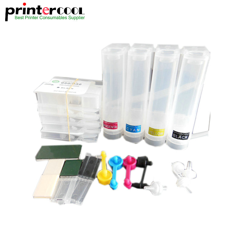 CISS 932 933 with chip Continuous Ink Supply System With Permanent Chip for HP Officejet 6100 6600 6700 7110 7610 7612 printer in Continuous Ink Supply System from Computer Office