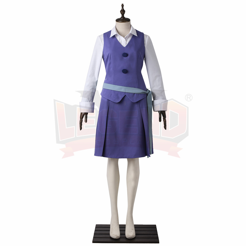 Little Witch Academia Diana Cavendish Daiana Kyabendis Dress Outfit Halloween cosplay green belt costume