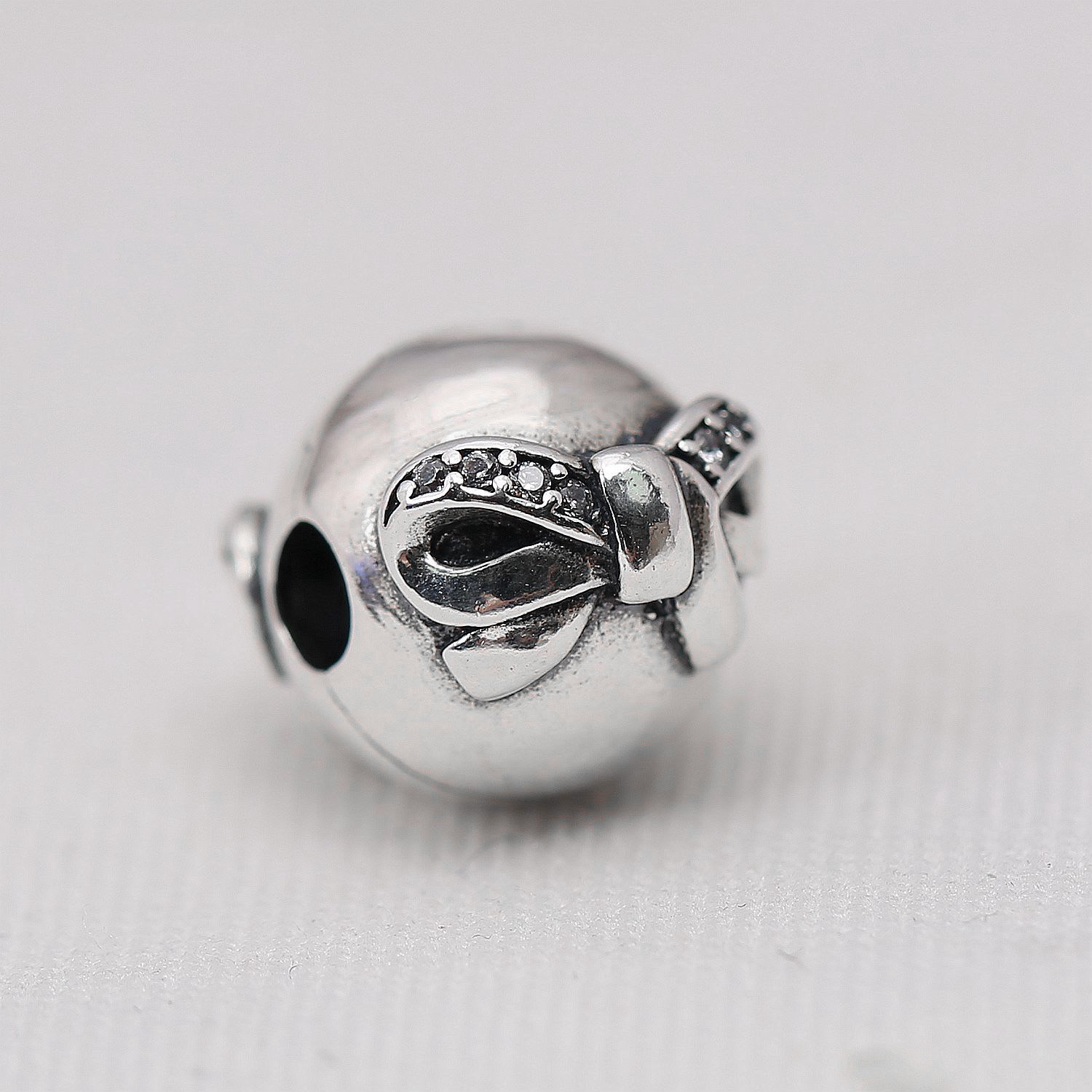 Beads & Jewelry Making 925 Sterling Silver Stopper Beads Bowknot Clips Lock Charms For Original Pandora 925 Sterling Silver Bracelets Bangles Xcy163 New Varieties Are Introduced One After Another