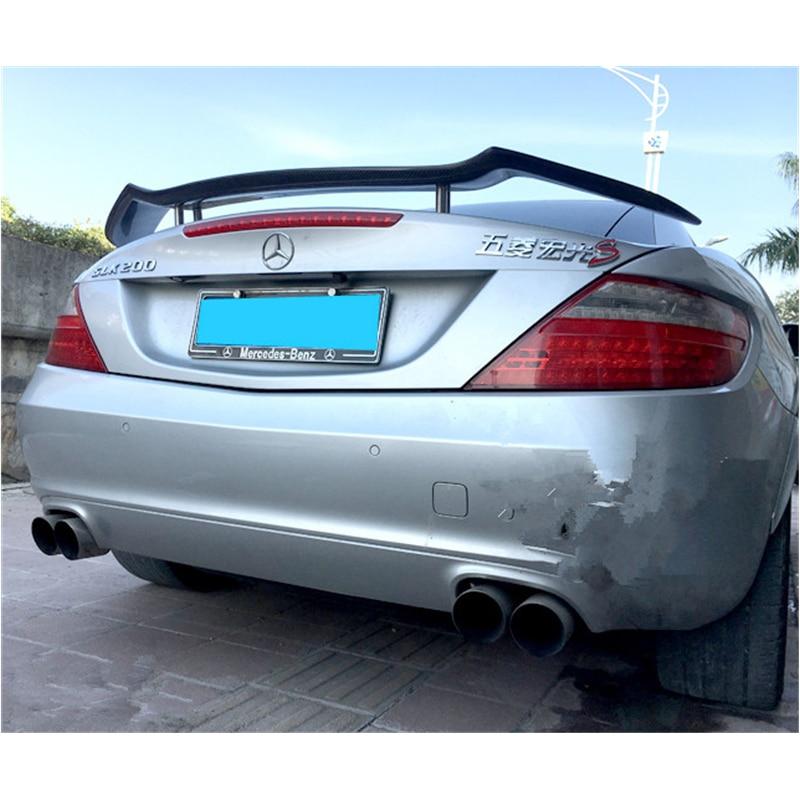 En Fiber De carbone Aileron Arrière Tronc Boot Aile Pour Benz R171 R172 SLK Classe Convertible 2 Porte 2012 2013 Voiture Tuning pièces