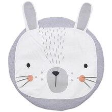 Детское одеяло Игровой Коврик кролик Лев игровой коврик дети ползают Carpet 100% хлопок мягкие детские Восхождение ковров Детская комната украшения