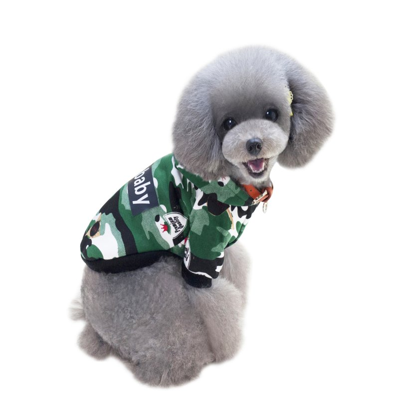 Pet Dog Jackets Dogbaby Hooded Two Legs Camouflage Style Pet Dogs Winter Vest Coat Small Puppy Dogs Clothing Coat