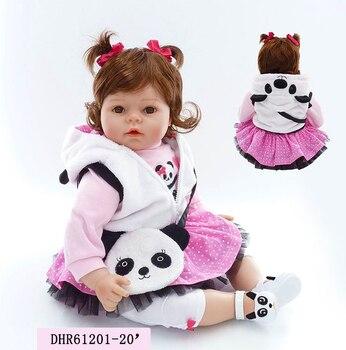 2ea8bfd54c NPK 50 CM Reborn Doll suave silicona vinilo bebés muñeca para niñas realista  suave vivo Reborn Baby Doll para niños ponderado de la muñeca