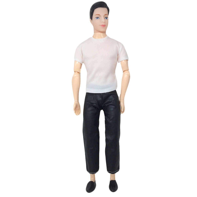 5 Juegos de moda Casual ropa de muñeca hecha a mano, pantalones de chaqueta trajes de pantalones de la ropa de los hombres chico Ken accesorios regalo