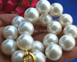 Discount!!Charming!14mm south sea White Shell Pearl Necklace AAA 18