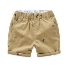 Детские летние брюки, детские штаны для маленьких мальчиков и девочек, свободные шорты, пляжные штаны с якорем, 90-140