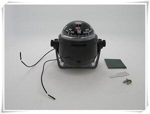 Image 1 - Luz de bússola para navegação led marinha, 12v, branco/preto, barco, iate
