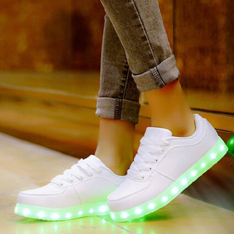 2016 Tenis Led USB Charging Light Shoes For Adults Glowing With Lights Up Christmas Gift for Children Men Women