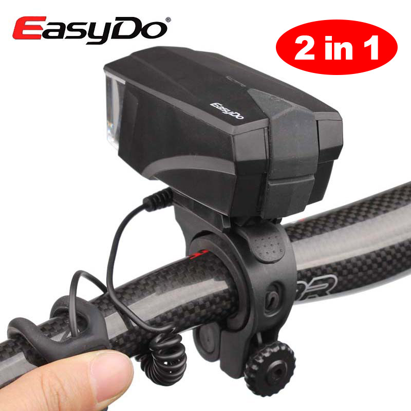 2 In 1 Cycling Light And Electric Horn Bicycle Headlight USB Rechargeable Bike Handlebar Front Light MTB Road LED Lamp EASYDO цена