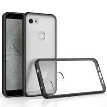 Hybrid Shockproof Cover Air Cushion Bag Case With Acrylic Crystal Clear Back Shell For Google Pixel 3A / Google Pixel 3A XL