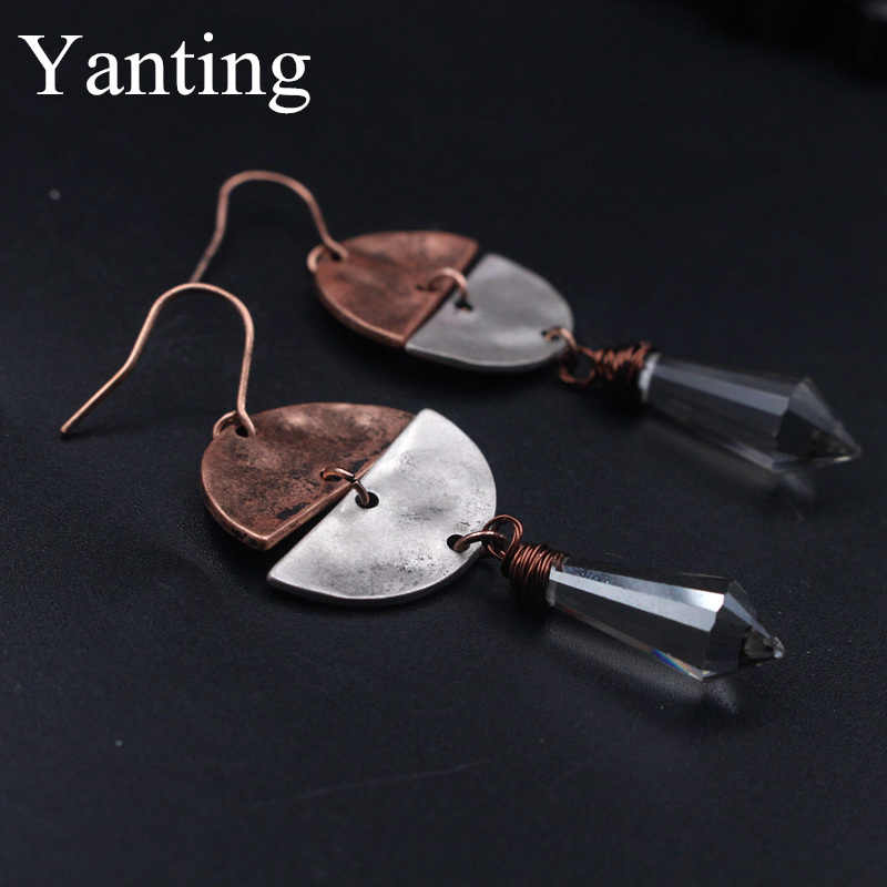 Yanting patchwork air drop earrings wanita vintage earrings pendientes brincos earings fashion perhiasan baru hadiah tahun 0357