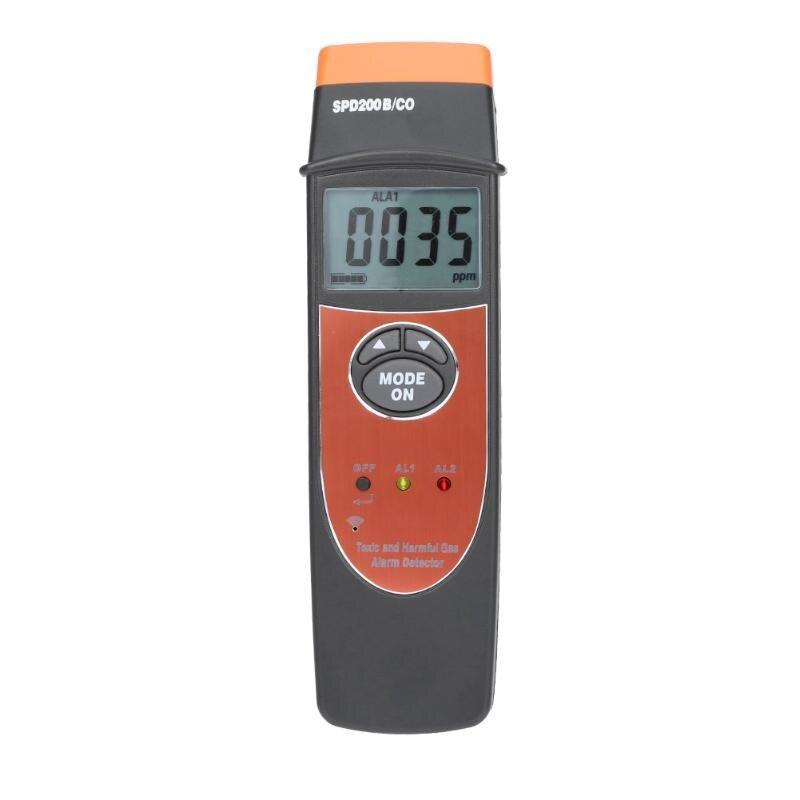 Carbon Monoxide Detector 0-1000PPM CO Carbon Monoxide Meter Monitor Backlight Display Acousto-optic Alarming Gas Tester Detector