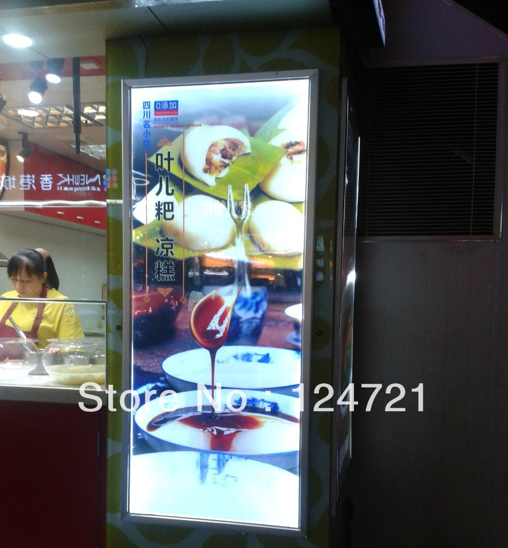 ФОТО Aluminum snap frame slim lightbox for A3 Size