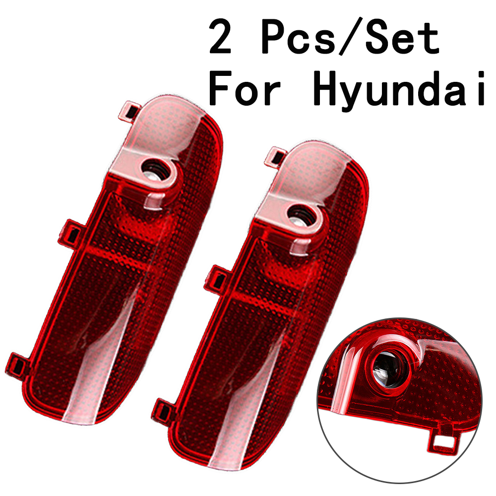 12/24V With Logo Only For Hyundai/Sonata 8 Auto Door Lamp 5W LED Courtesy Lens Include Ghost Shadow Projetor 2Pcs/Set