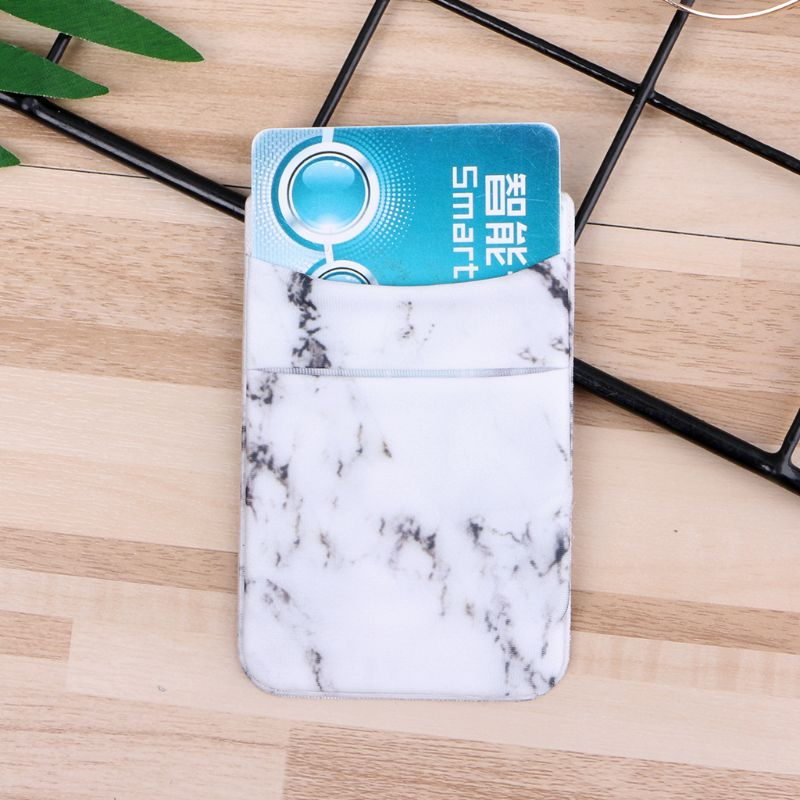 1pcs Mobile Phone Adhesive pouch Sticker Wallet Credit ID Card Holder