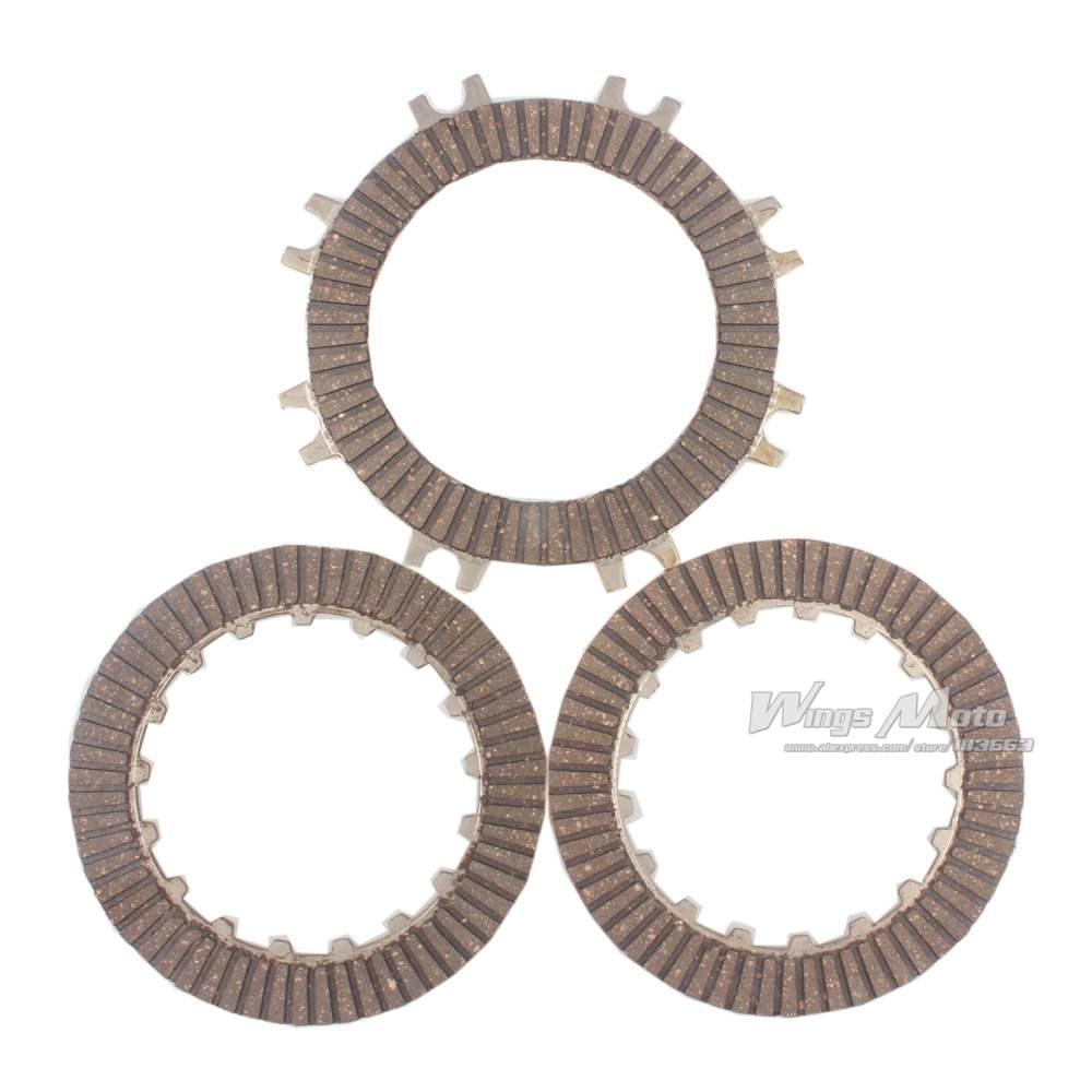 10pcs Wholesale Clutch Disc Plate Set for 50 70 90 110cc Automatic Clutch  ATV Dirt Pit Bike