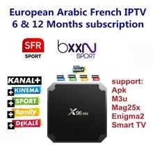 Android TV Box mit 1000 + Kanäle European Europe Arabisch Französisch Belgien IPTV Code Live TV Smart TV box für Frankreich Belgischen Arabischen