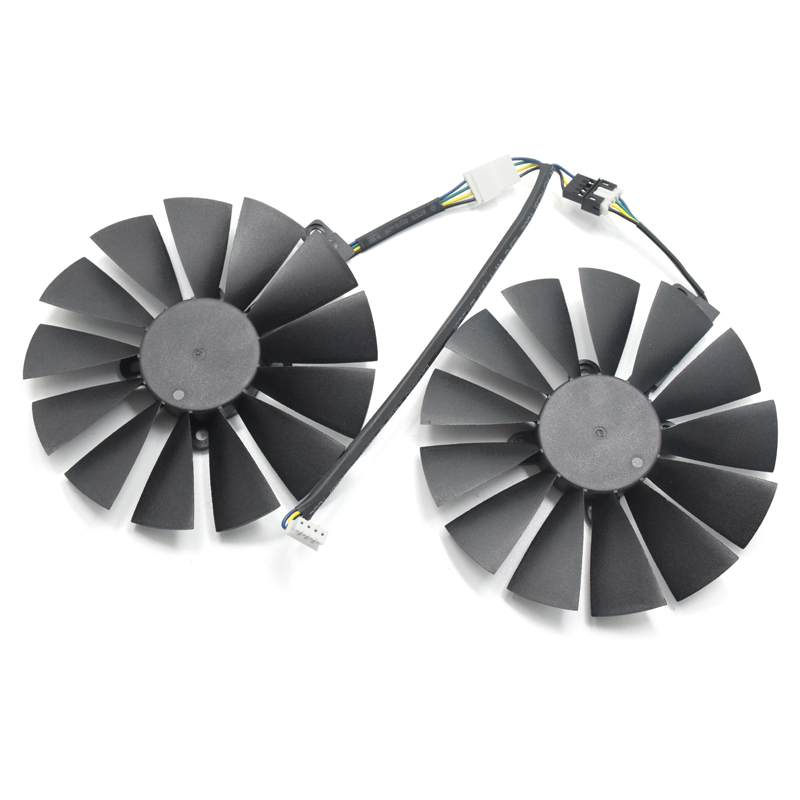 все цены на 95mm Ball Bearing GPU Cooler Video Fan Replace for ASUS RX580 8G O8G /4G GTX-1070Ti-8G GTX-1080Ti-P11G-GAMING Card cooling онлайн